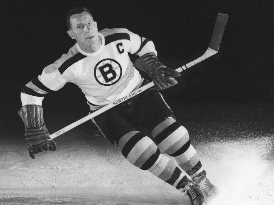 Milt Schmidt, then the Bruins' captain, in a photo from 1953.